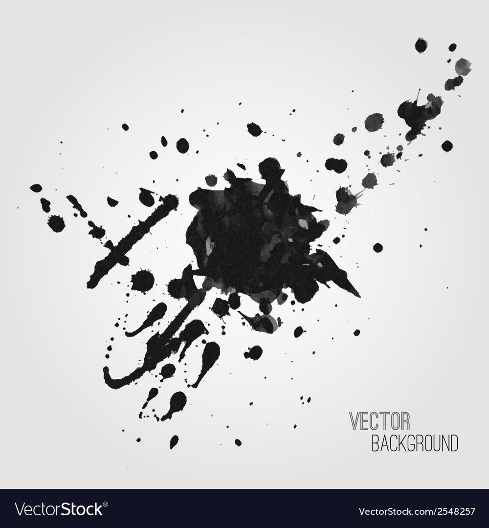 Grunge background with black splash