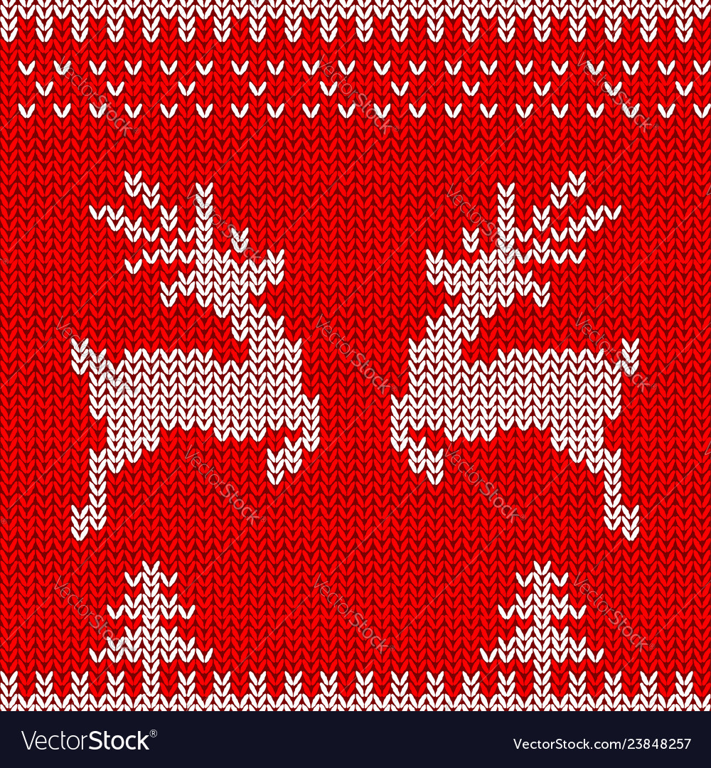 Knitted sweater design with deers