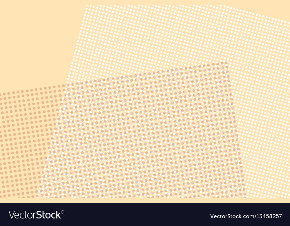 Light brown digital pop art retro background vector image