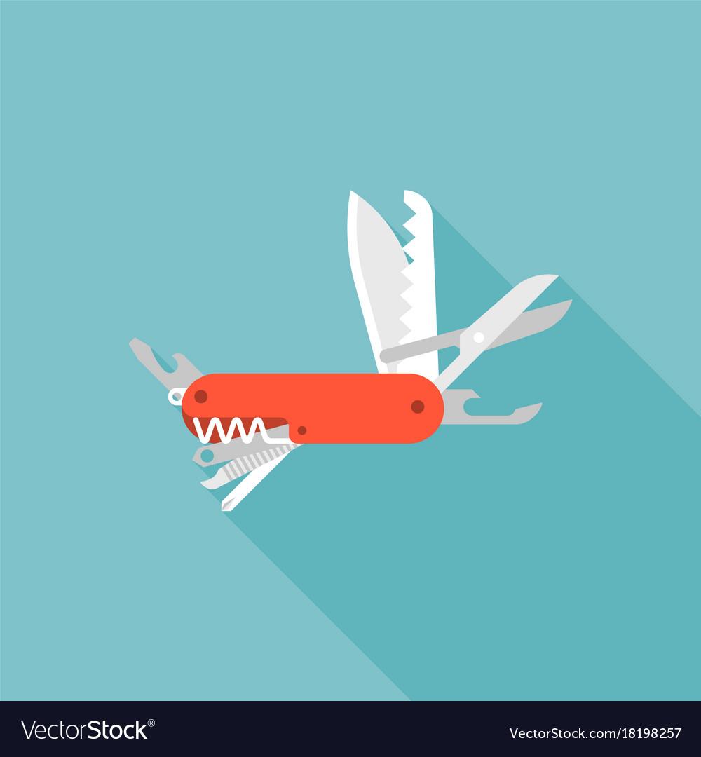 Multifunctional pocket knife icon