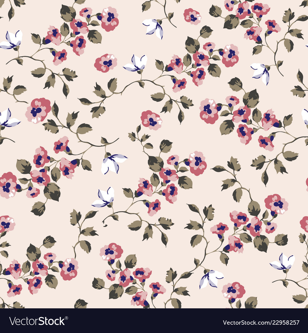 Seamless pattern design with little forget me not