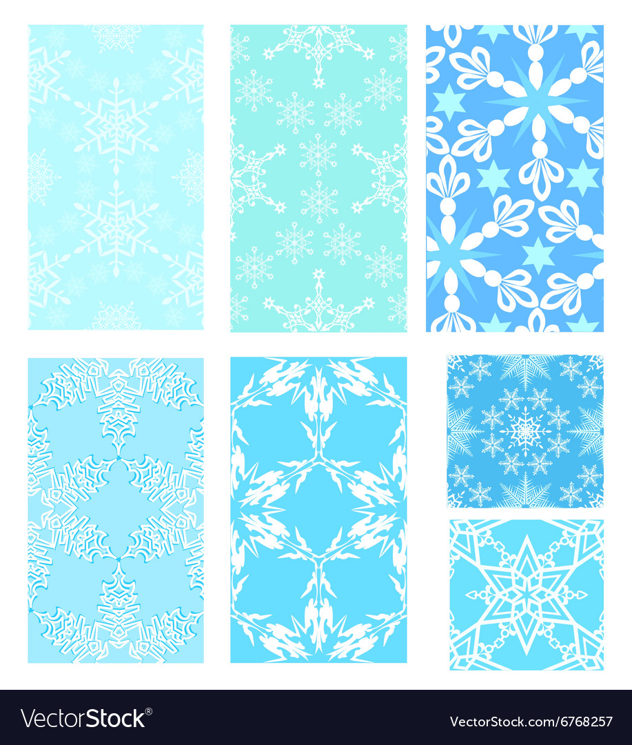 Set of Christmas pattern