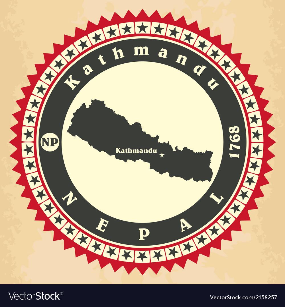 Vintage label-sticker cards of Nepal