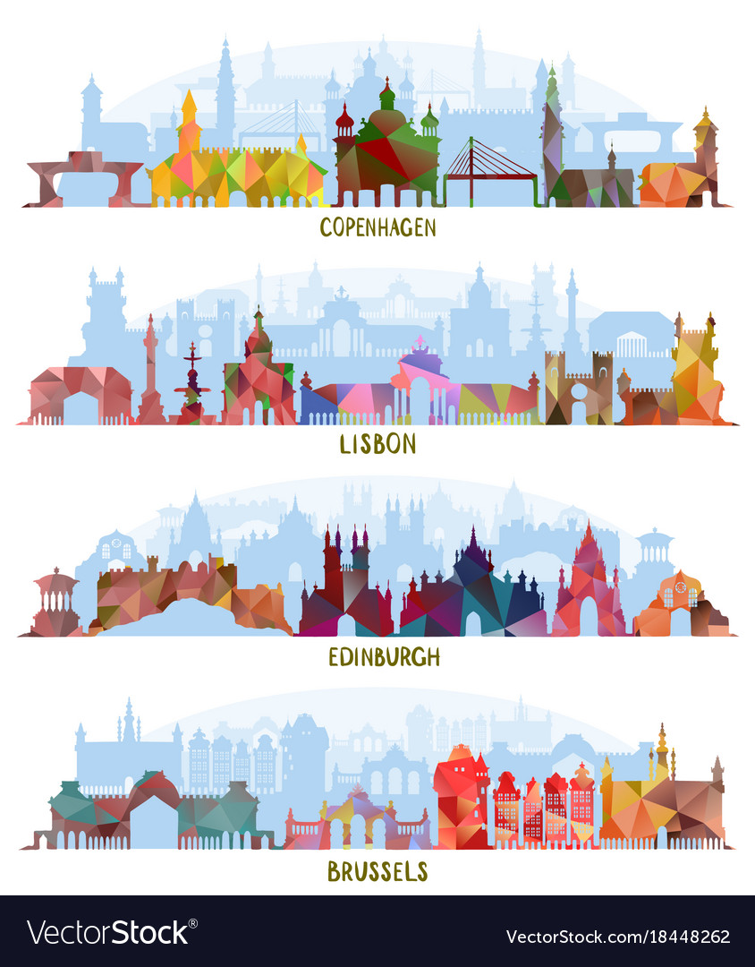 Cityscapes copenhagen lisbon edinburgh brussels