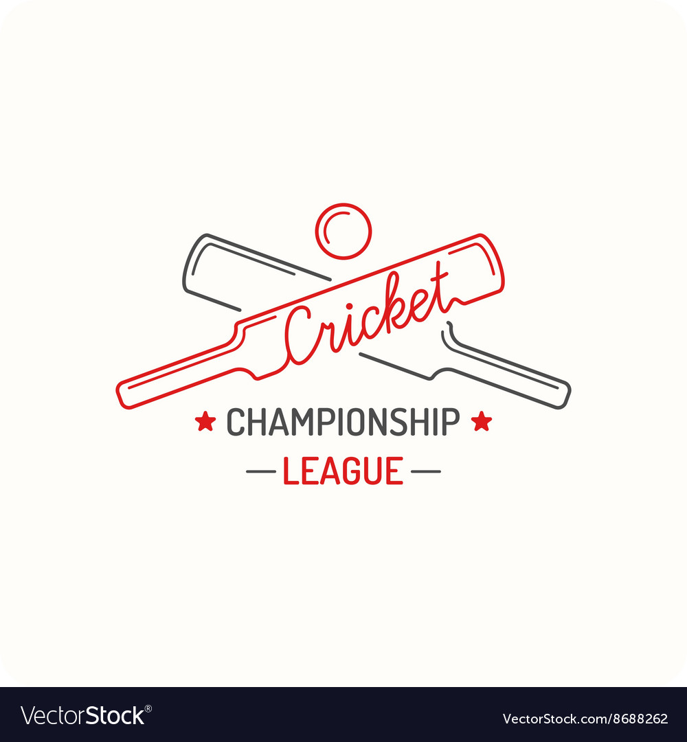 Concept logo cricket vector image