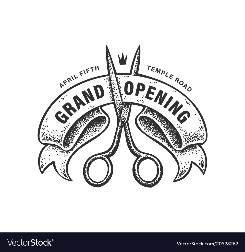 Grand opening sign vector image
