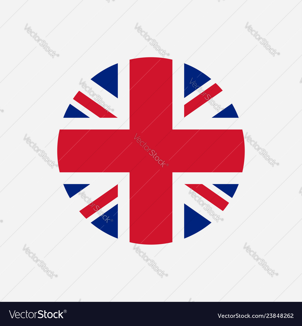Great britain flag union jack round logo