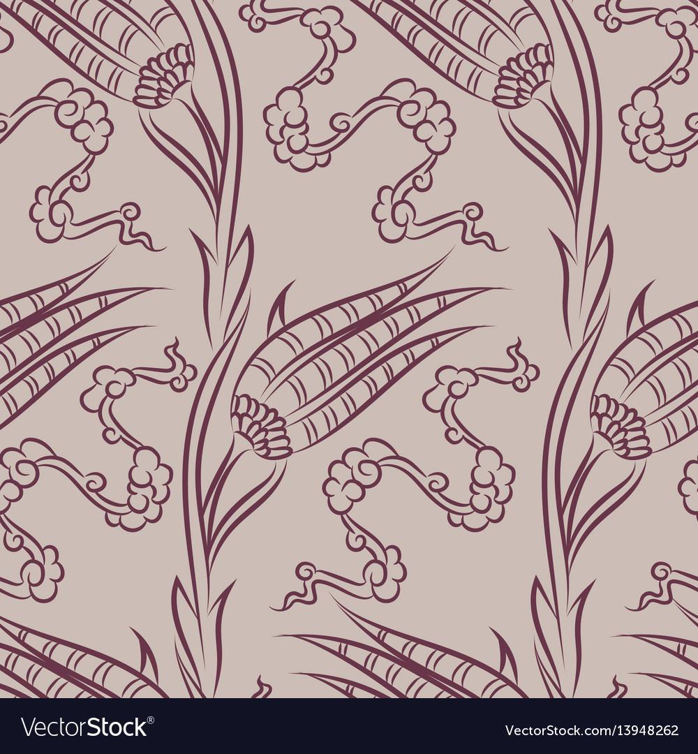 Iznik ceramic tiles floral pattern