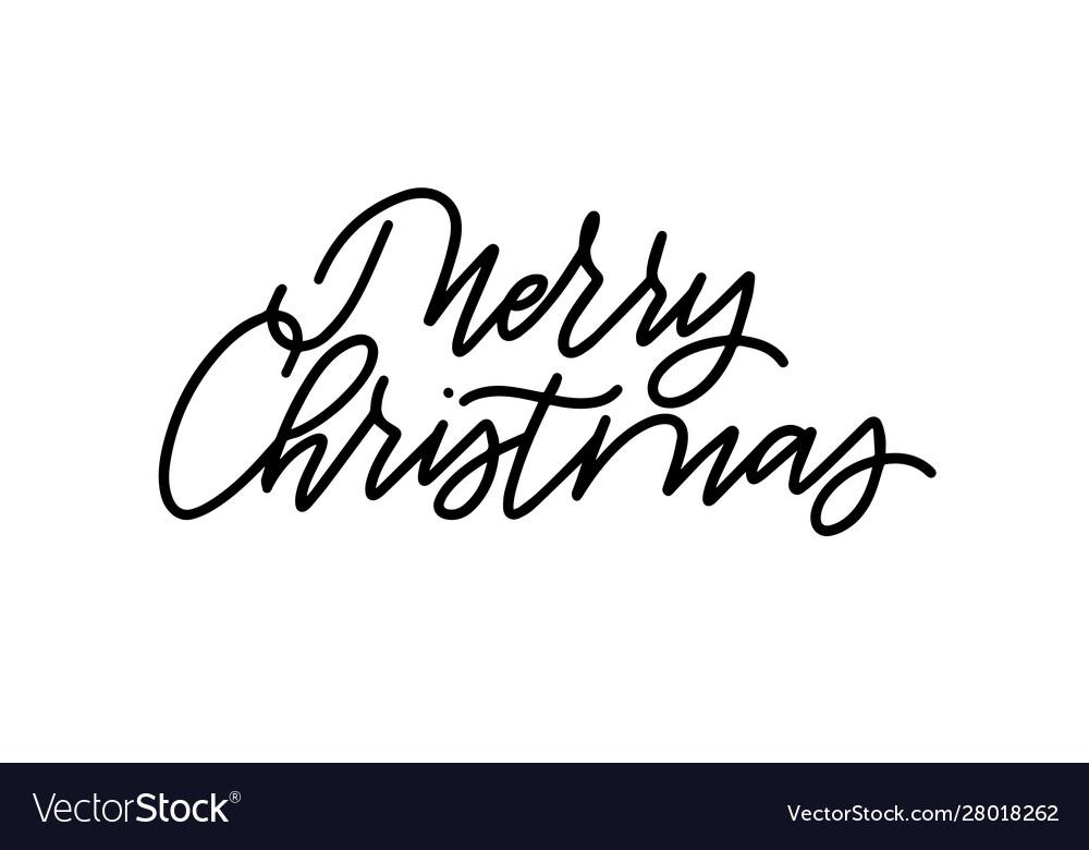 Merry christmas modern calligraphy design