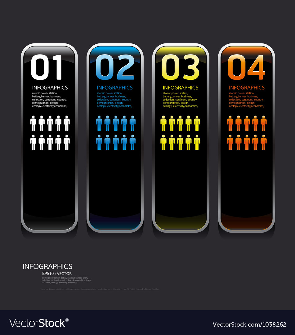 Metal frame and color Glass button vector image