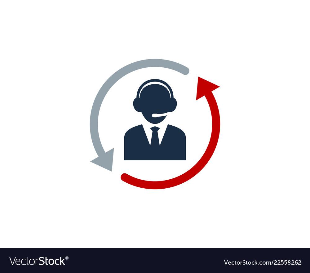 redial call center logo icon design royalty free vector vectorstock