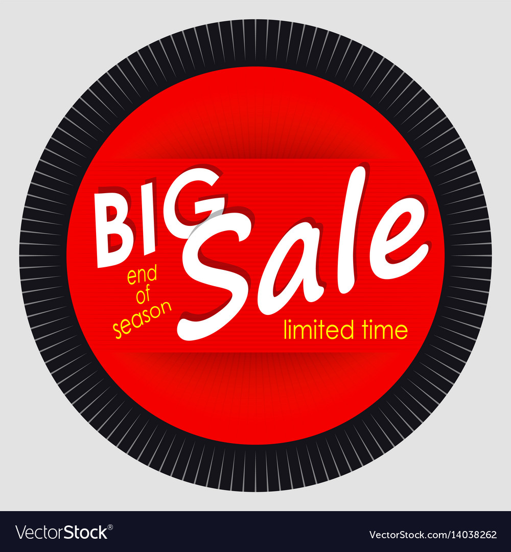 Sale banner template design red round advertising
