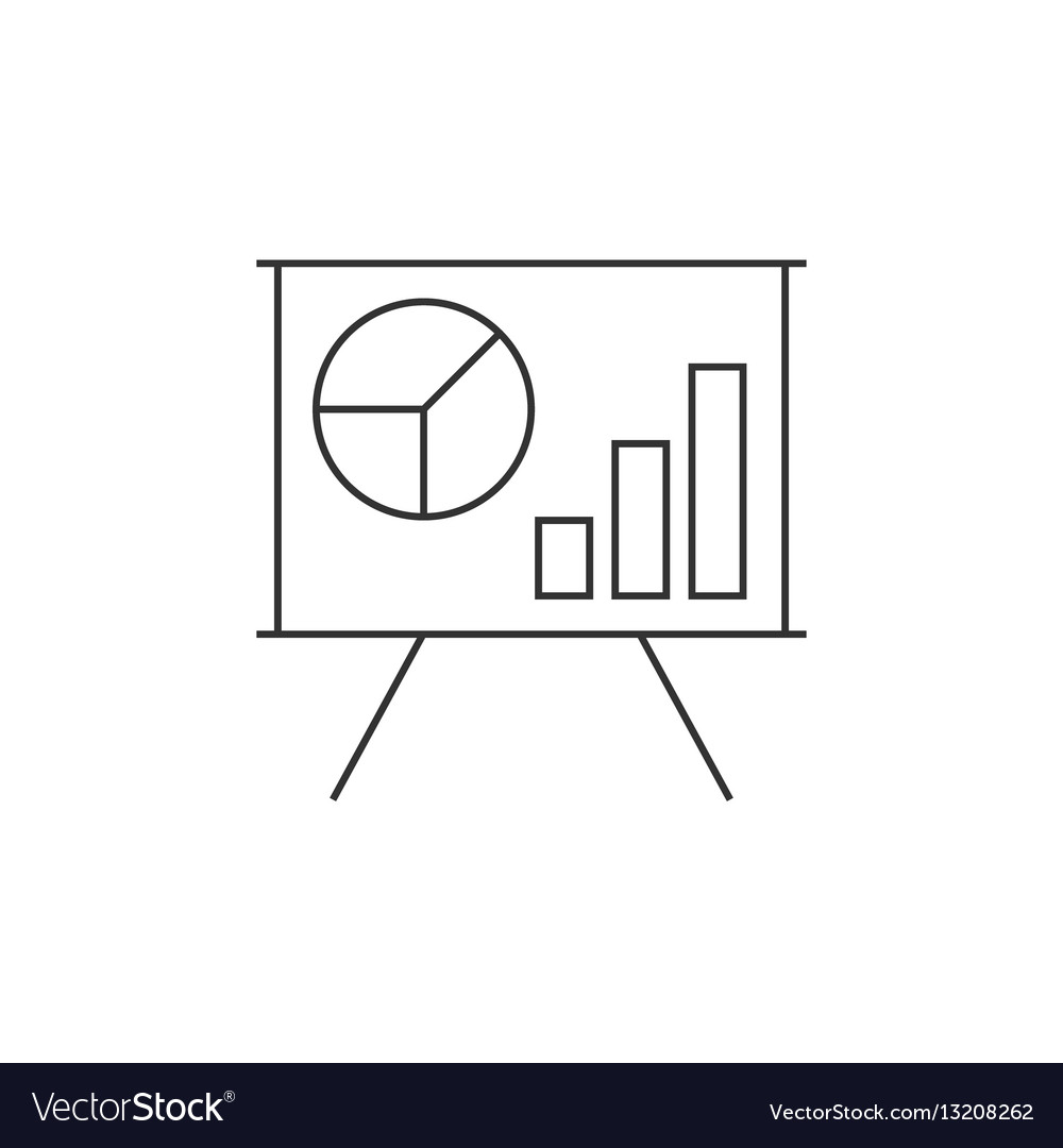 Schedule on the whiteboard line icon vector image