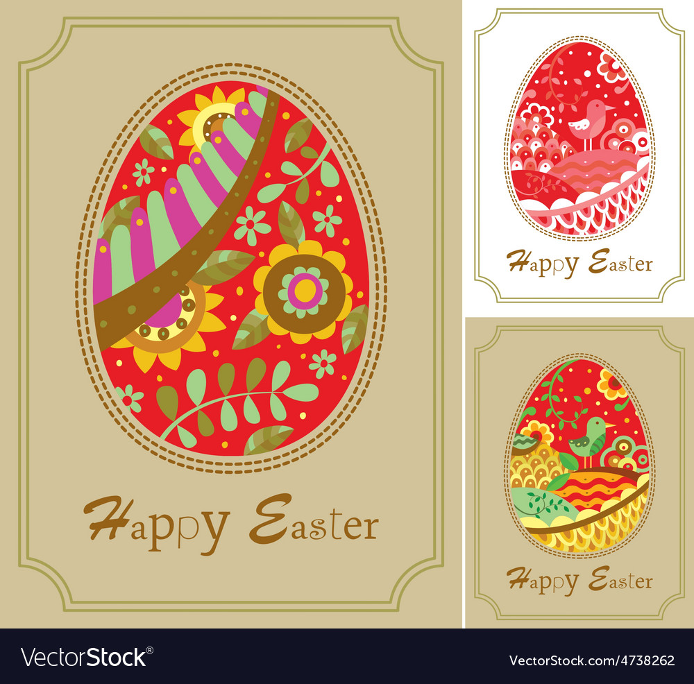 Three easter card