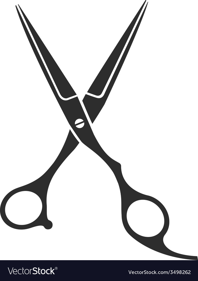vintage barber shop scissors royalty free vector image rh vectorstock com scissors vector ai scissors vector free download