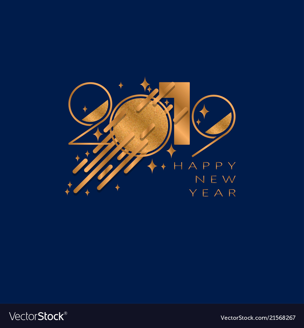 2019 happy new year background for flyers and vector image
