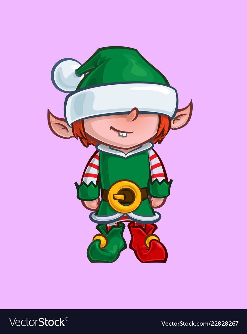 Minions Christmas.Christmas Cartoon Icon Santa Elf Minion Helper