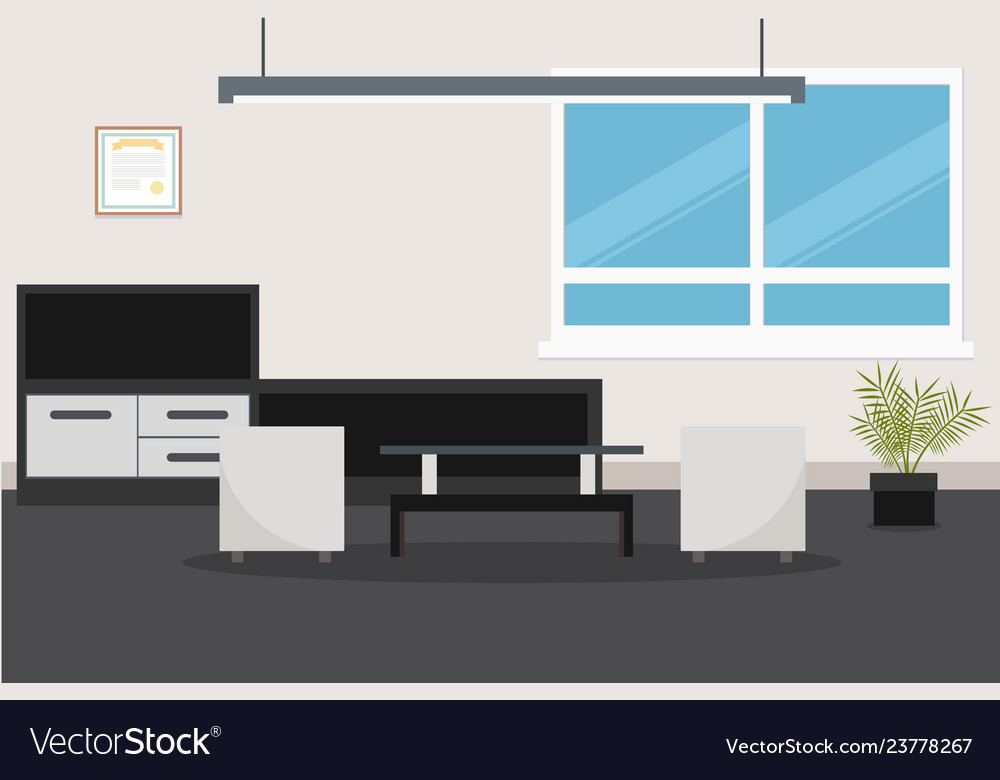 Design of room with modern furniture