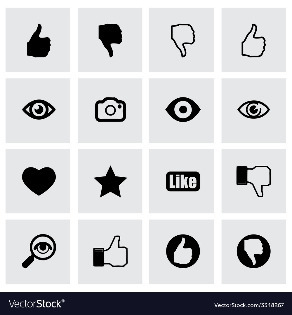 Like icon set