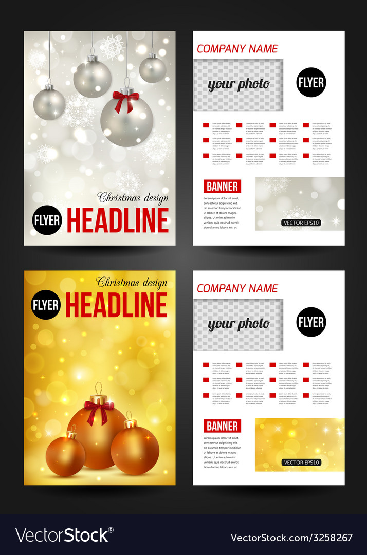 Set of Christmas corporate business stationery