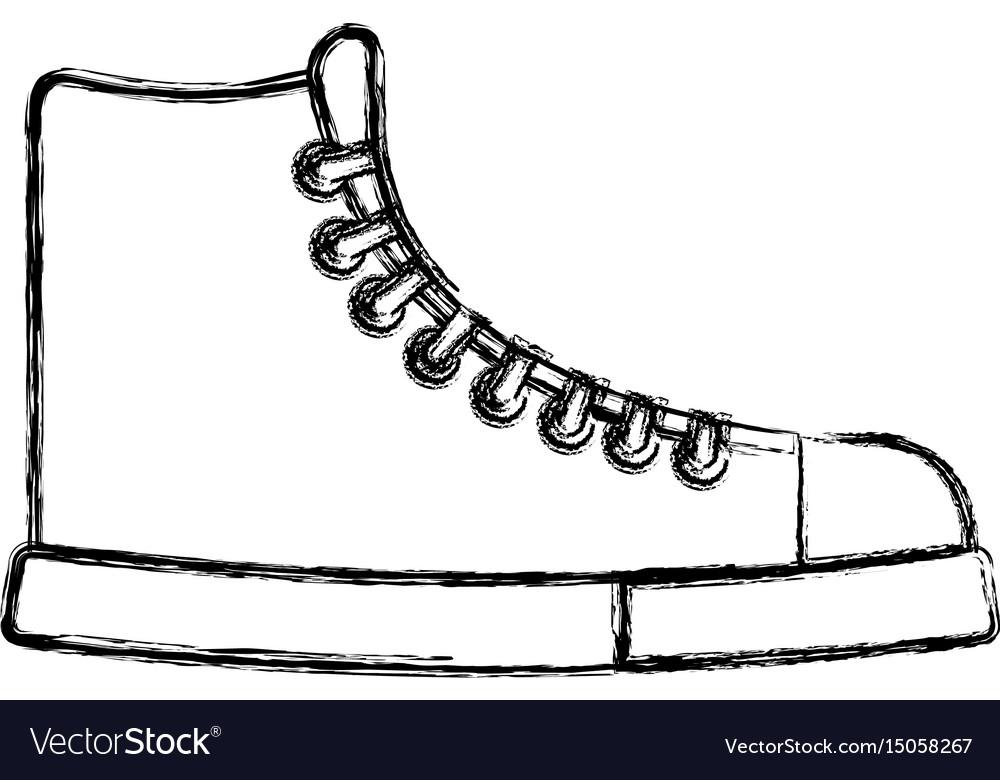 Sketch draw boot cartoon vector image