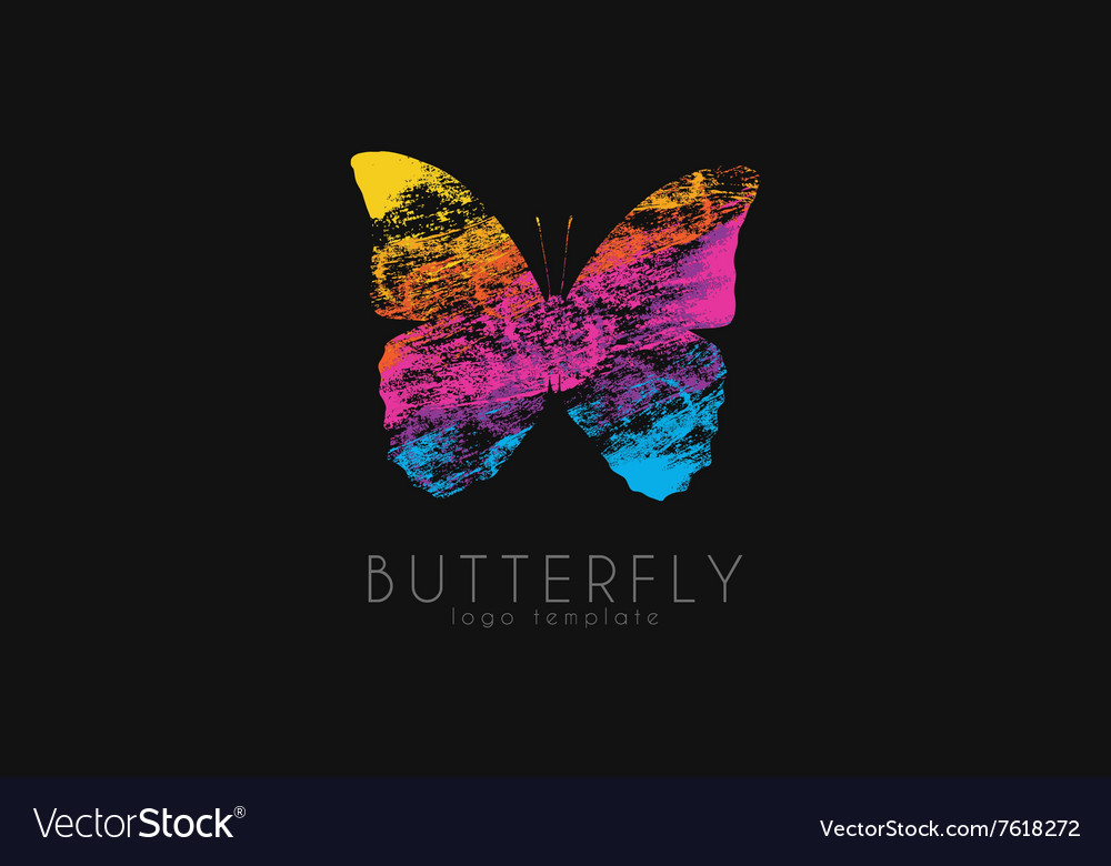 Colorful butterfly Butterfly logo Rainbow logo