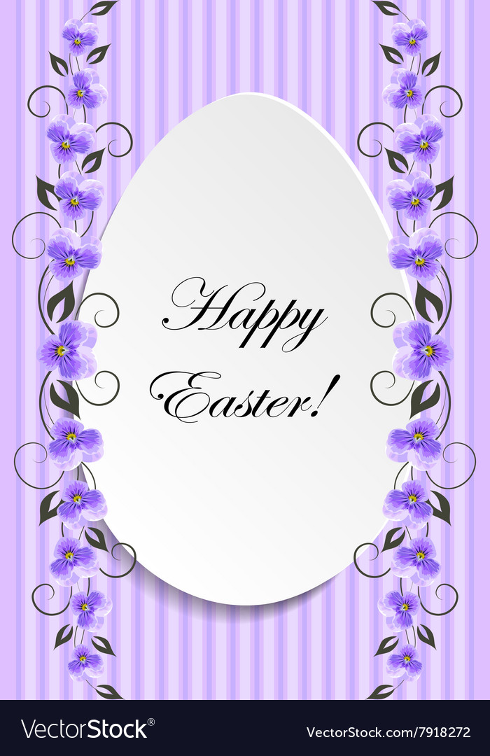 Happy Easter Vintage style Easter greeting card