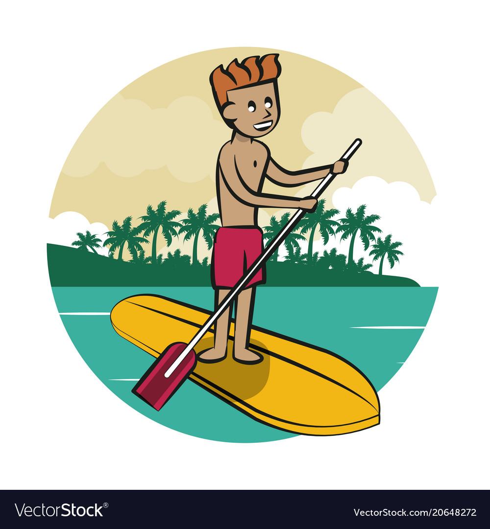 Man over surf board