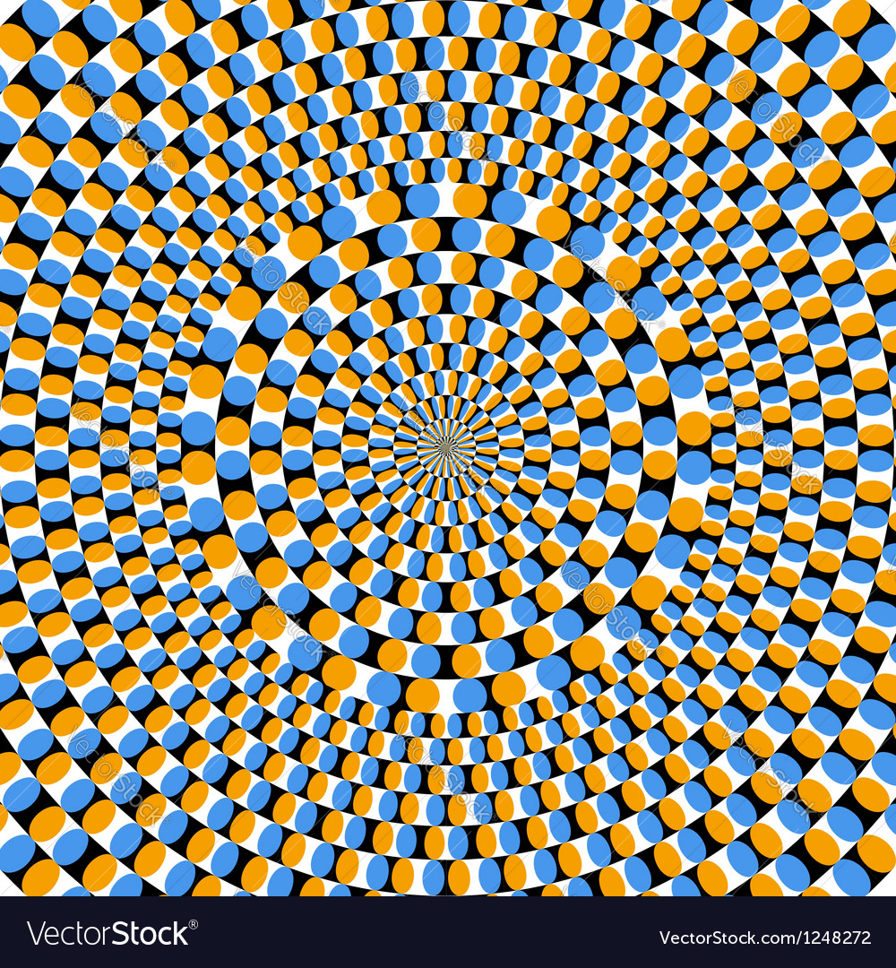 Optical effect of movement vector image