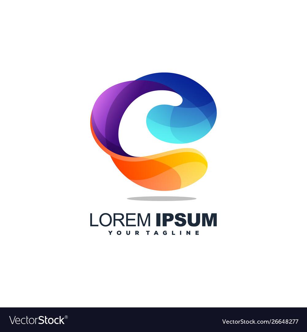 Awesome letter c logo design