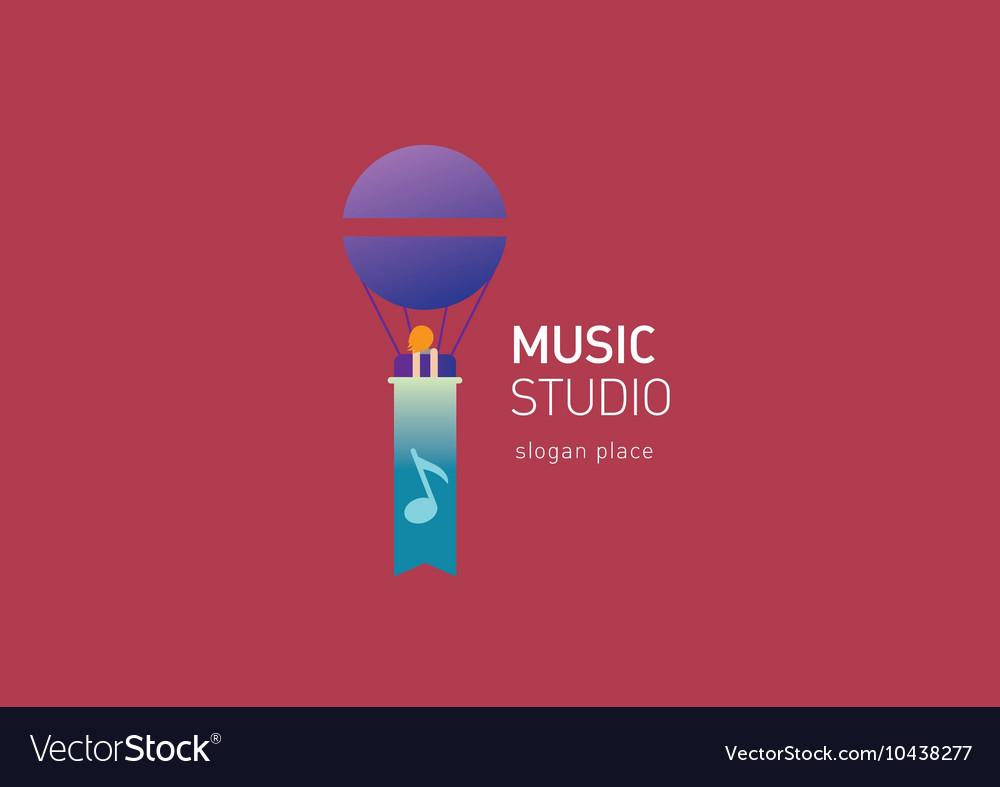 Creative logo for the music studio vector image