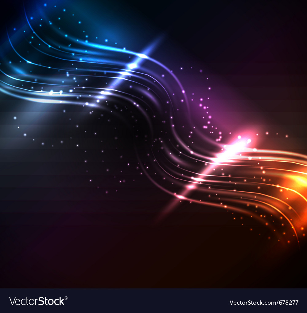 Glowing elements vector image