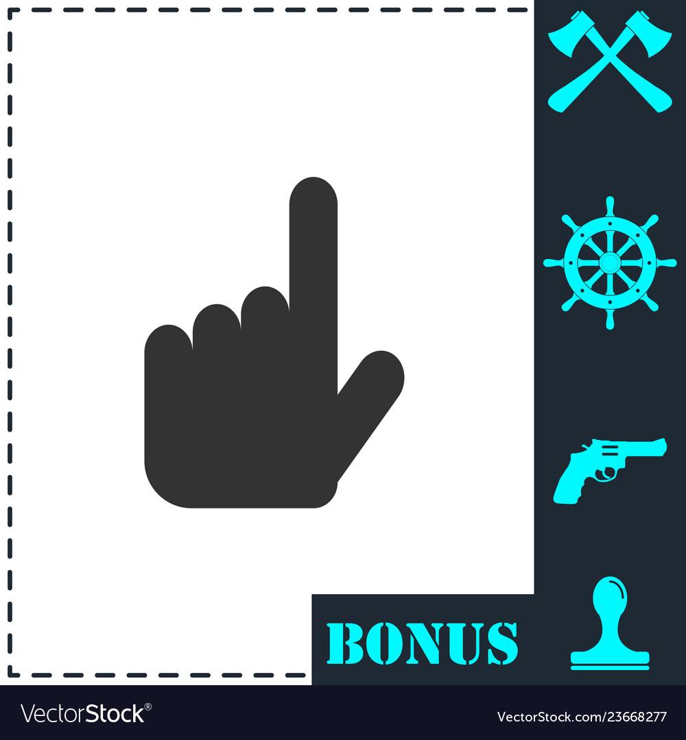 Hand cursor icon flat