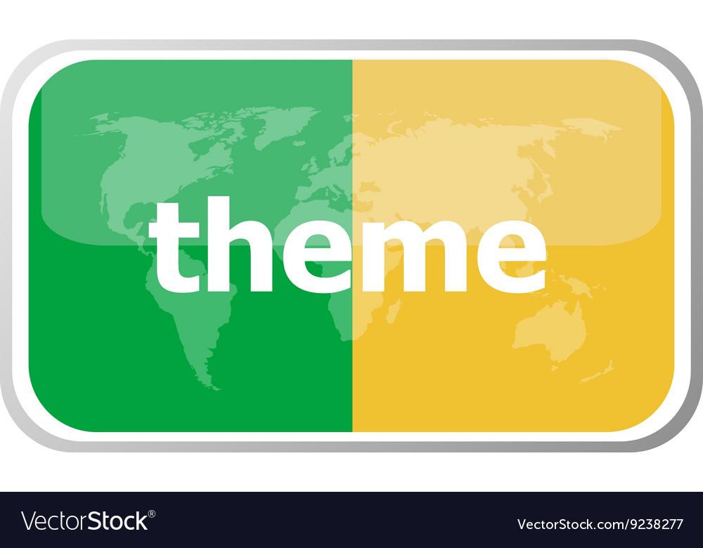 Theme Flat web button icon World map earth icon