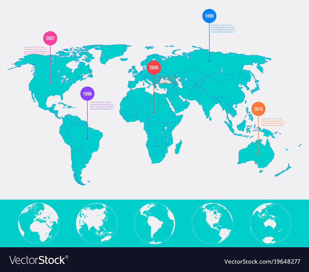 World map infographic template all country are vector image gumiabroncs Image collections