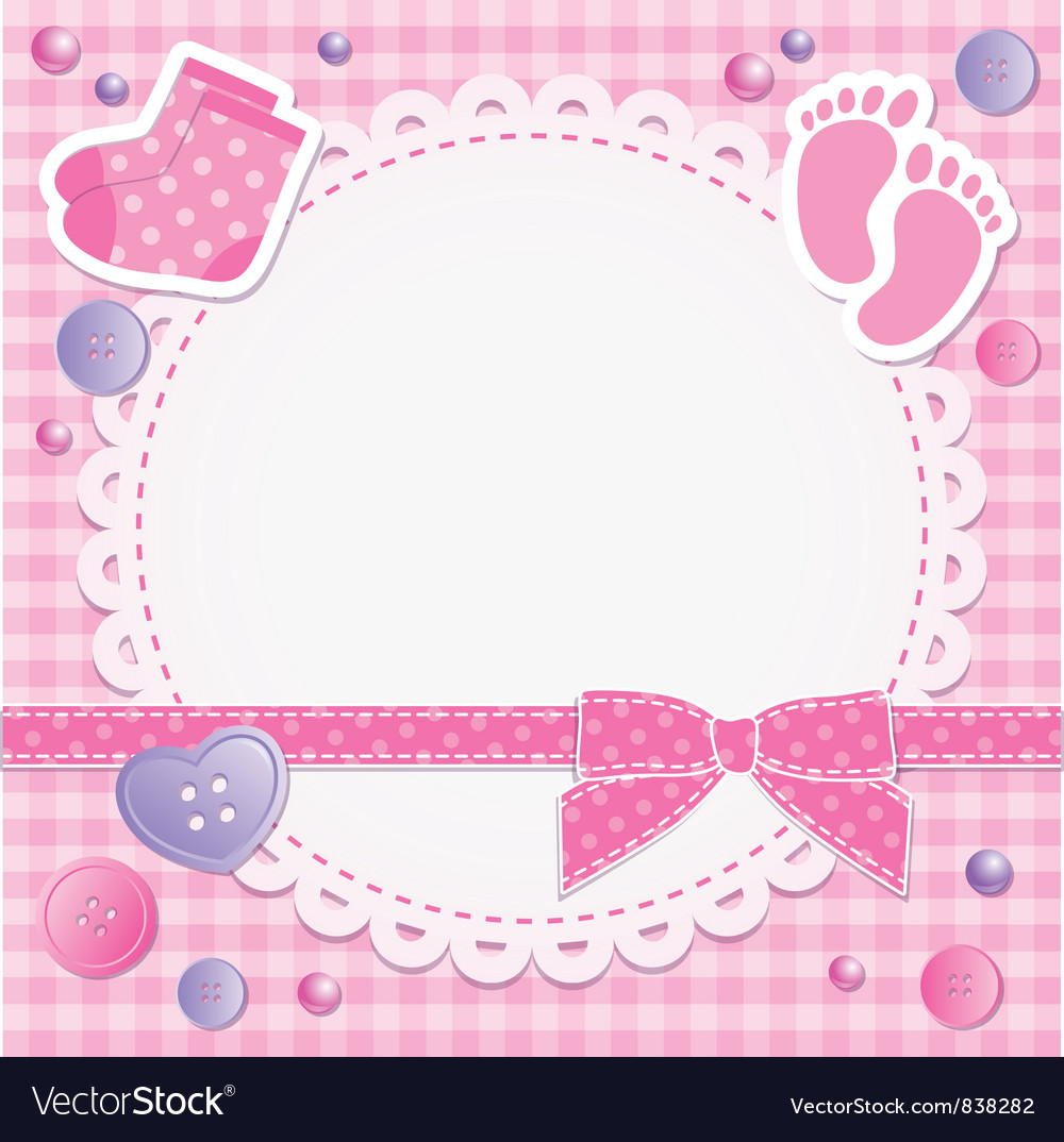 Baby frame Royalty Free Vector Image - VectorStock