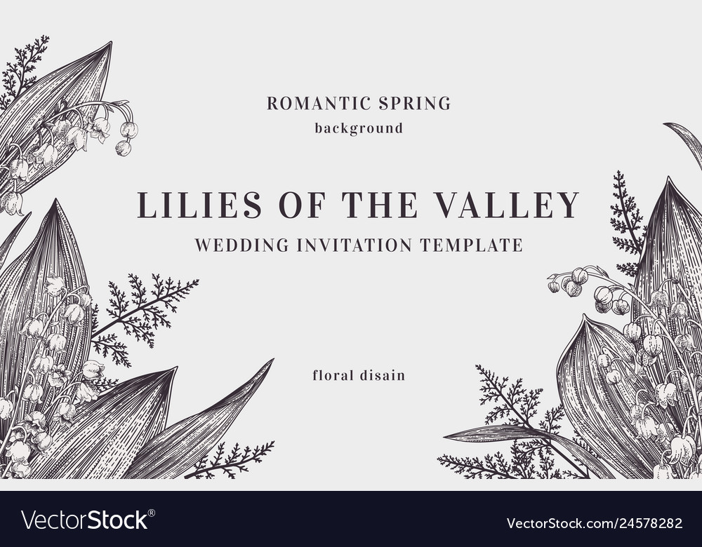 Background with lilies of the valley