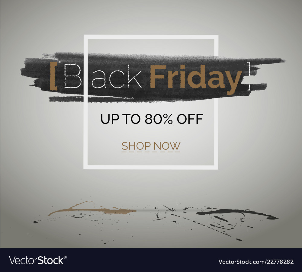 Black friday tbt discount banner for hipster event