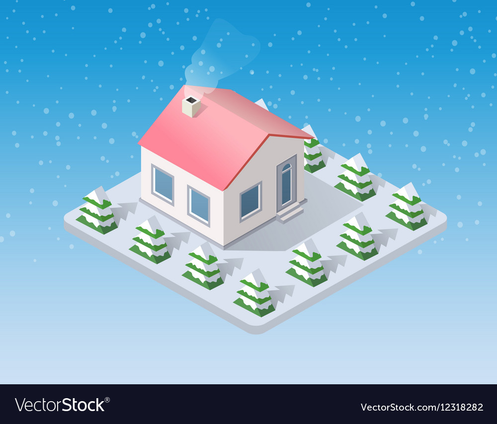 Christmas snow snowy winter vector image