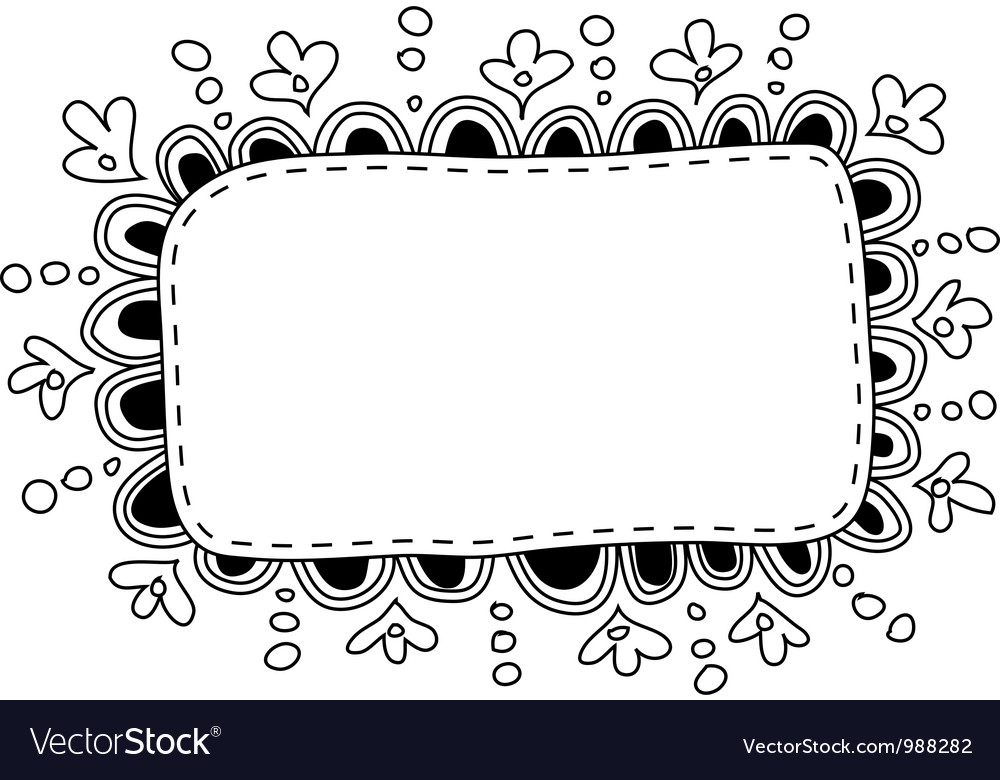 Hand Made Doodle Frame Royalty Free Vector Image