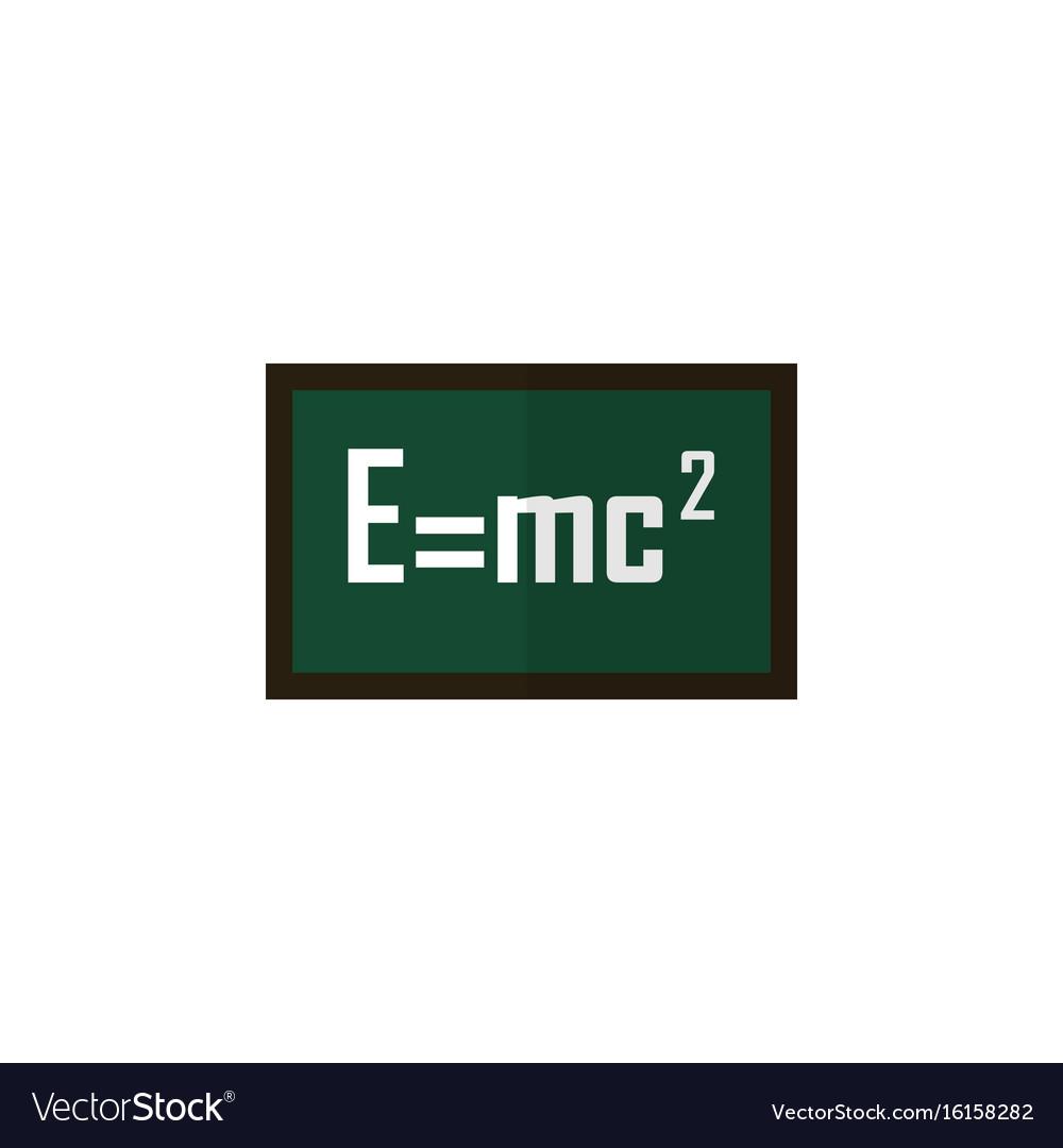 Isolated formula flat icon theory of relativity