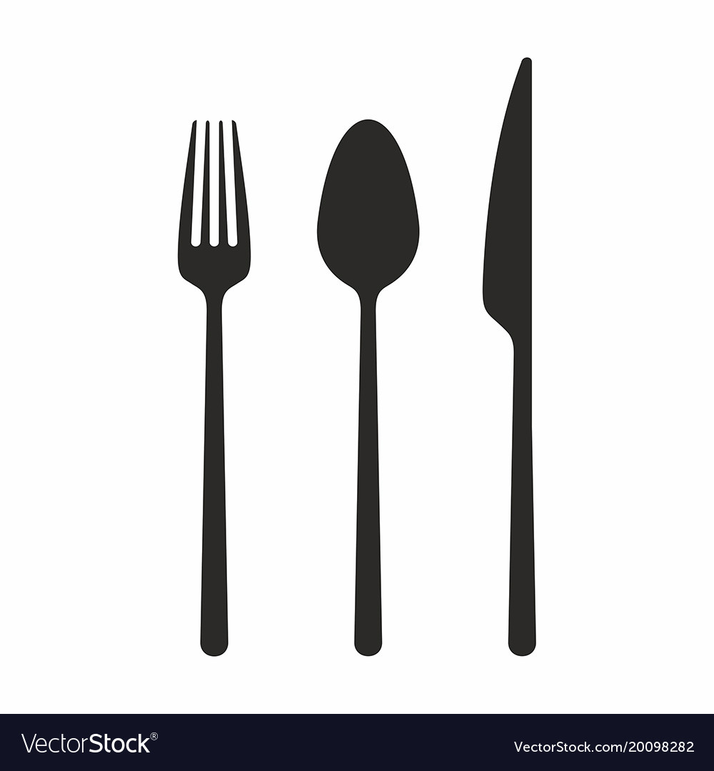 Knife fork and spoon icon
