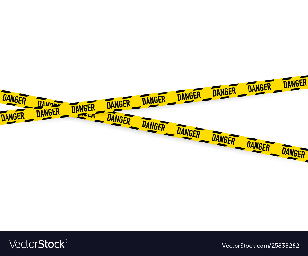 Lines isolated warning tapes caution danger signs