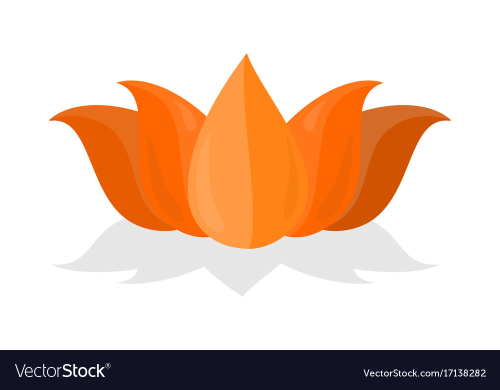National Symbol Of India Lotus Flower Isolated Vector Image