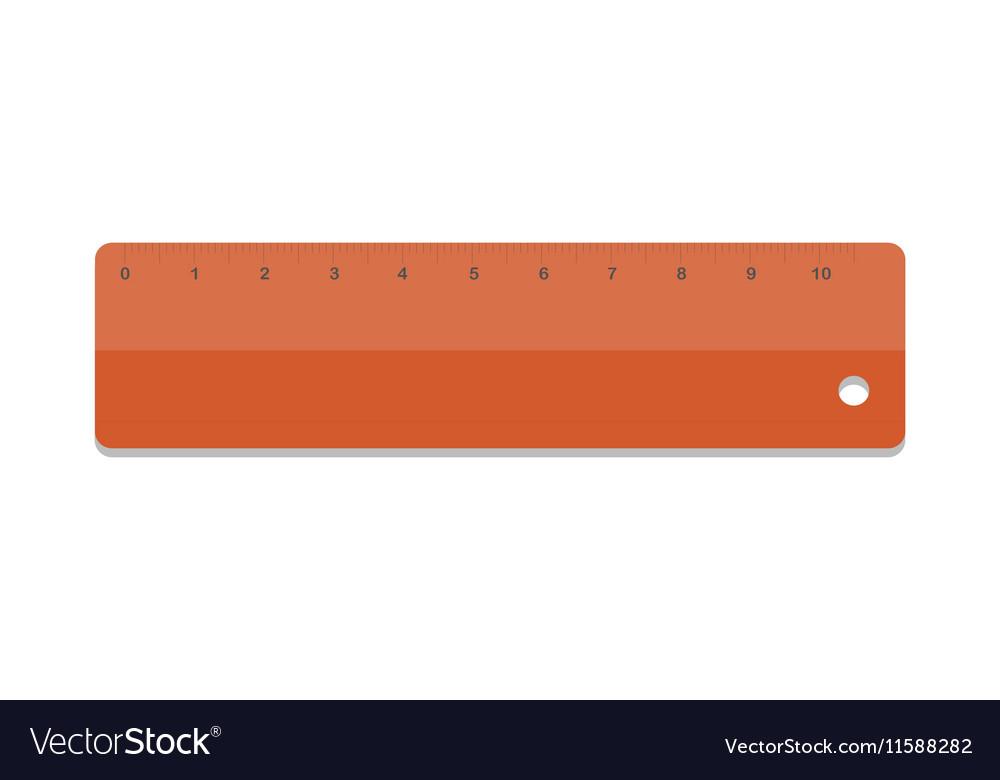 School ruler tool vector image