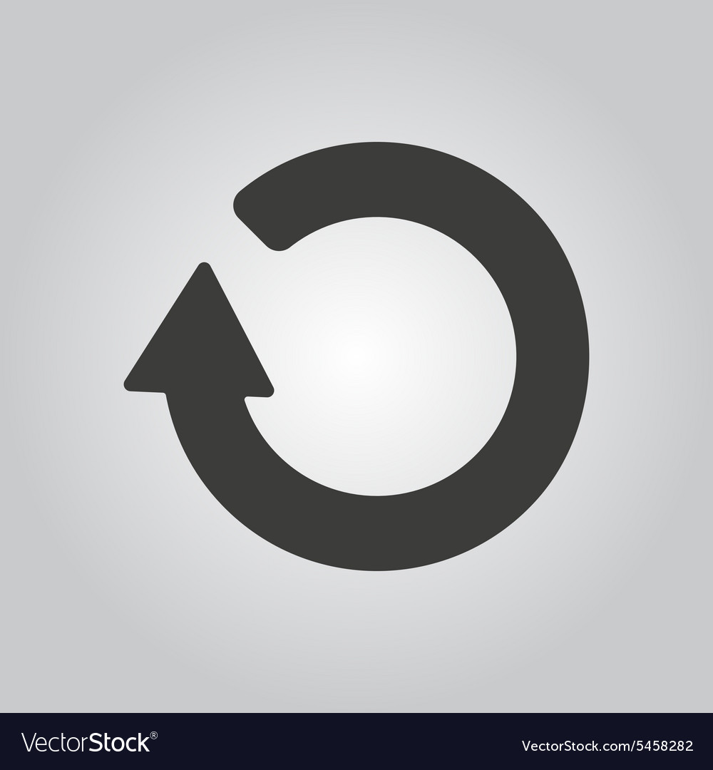 The Refresh Icon Loading Symbol Flat Royalty Free Vector