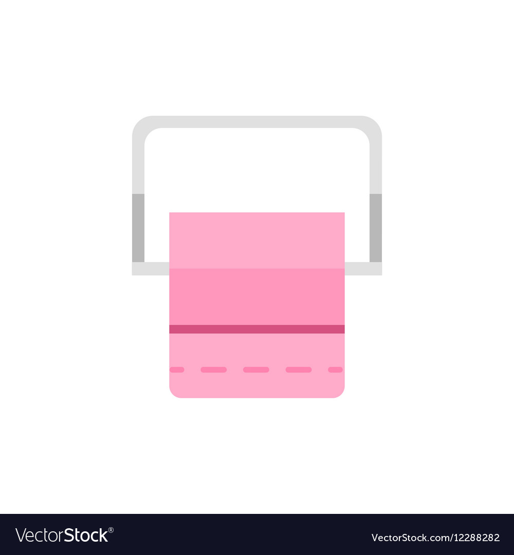 Toilet paper roll in bathroom vector image