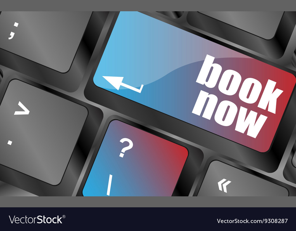 Book now button on keyboard key web icon web