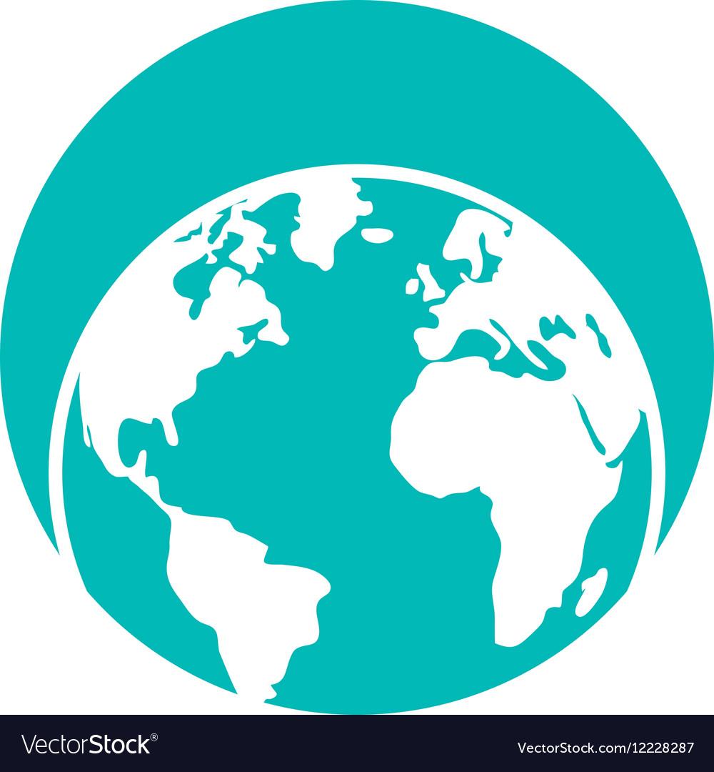 Globe world eart map symbol Royalty Free Vector Image on