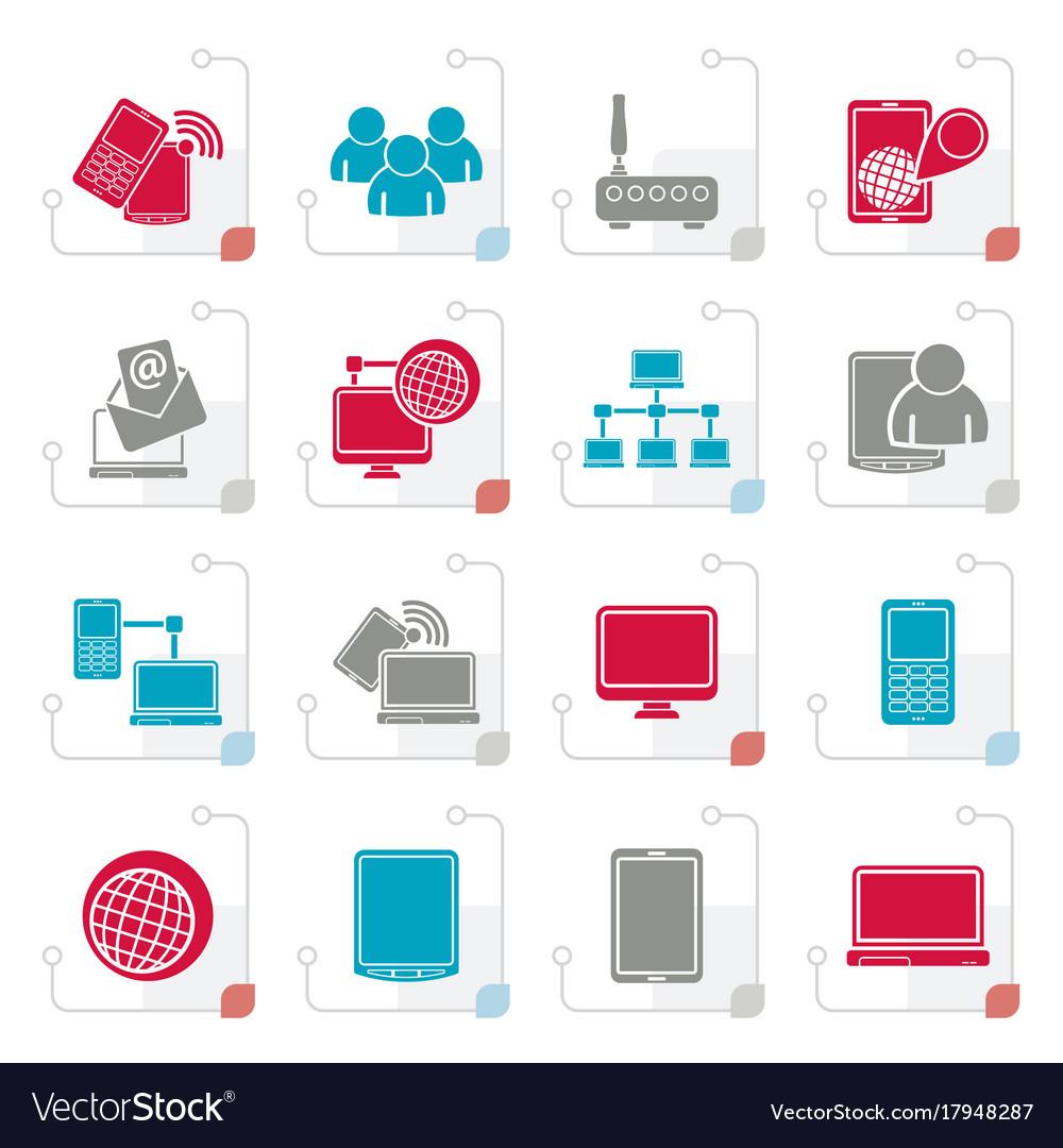 Stylized communication and technology equipment ic